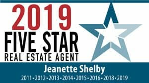 Jeanette Shelby - 5 Star Real Estate Agent Award